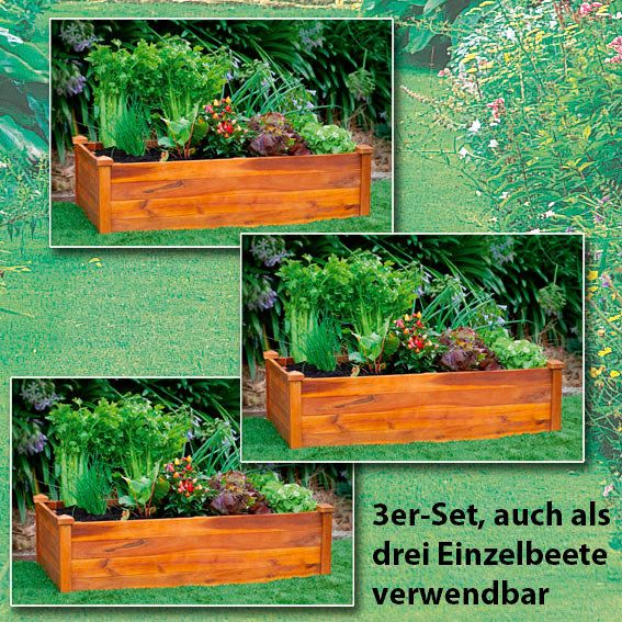 Hochbeet Klassik 3er Set Rechteckig Stapelbar Von Gartner Potschke Hochbeet Gartenprojekte Beete