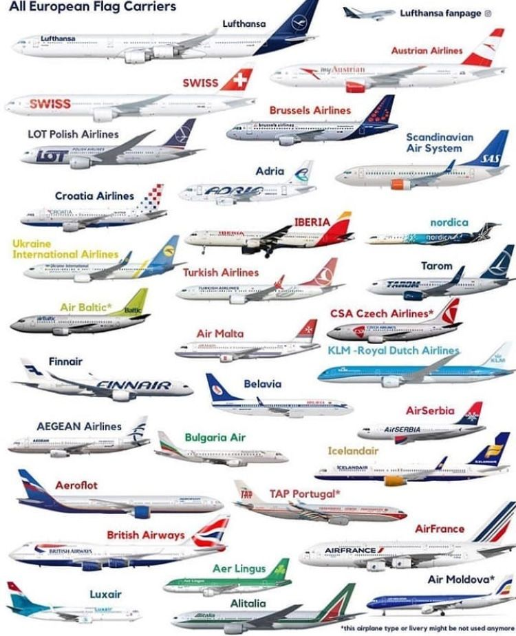 European Airlines • Lufthansa 'German 🇩🇪 Airlines' is the