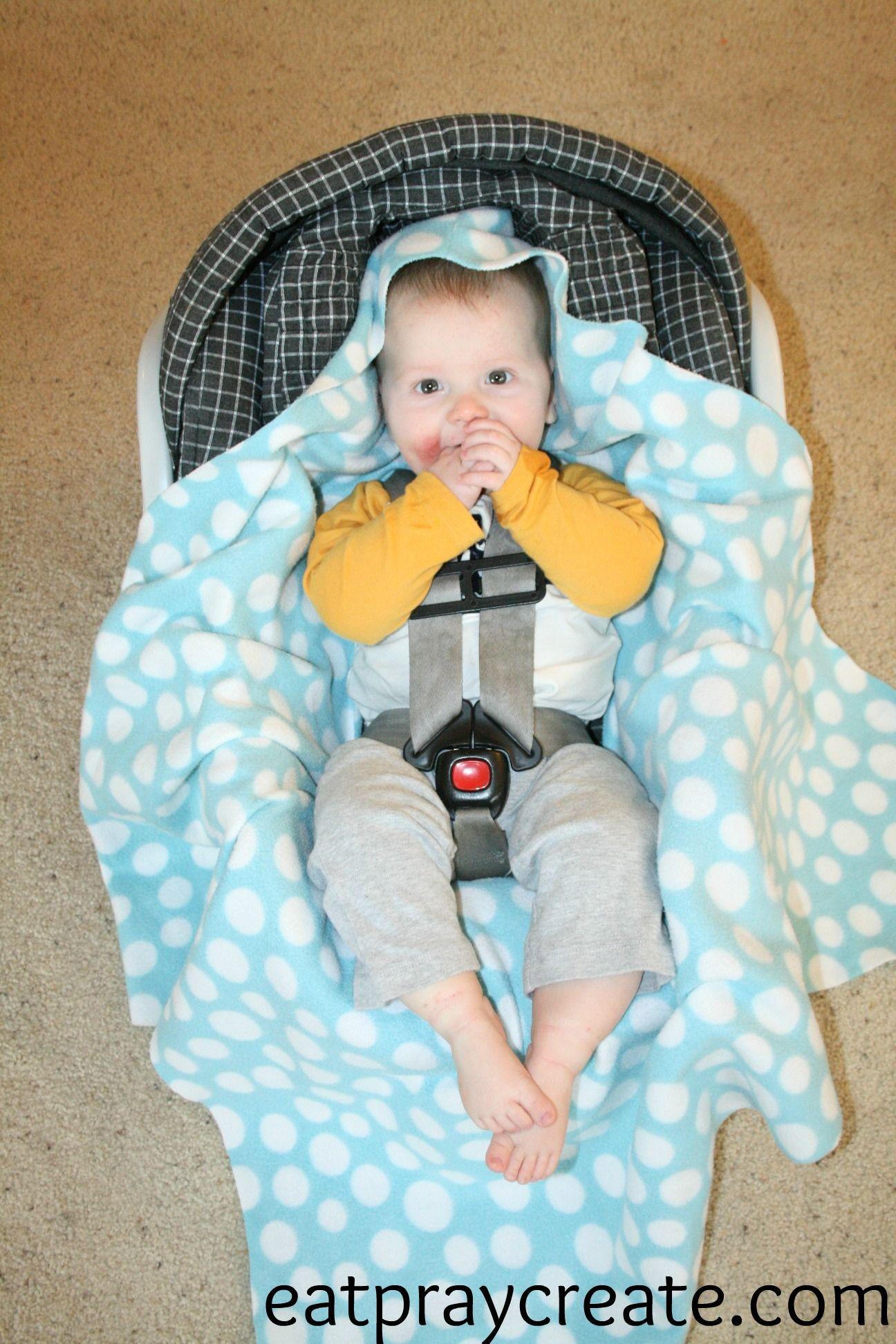Diy easy car seat blanket tutorial diy baby blanket diy