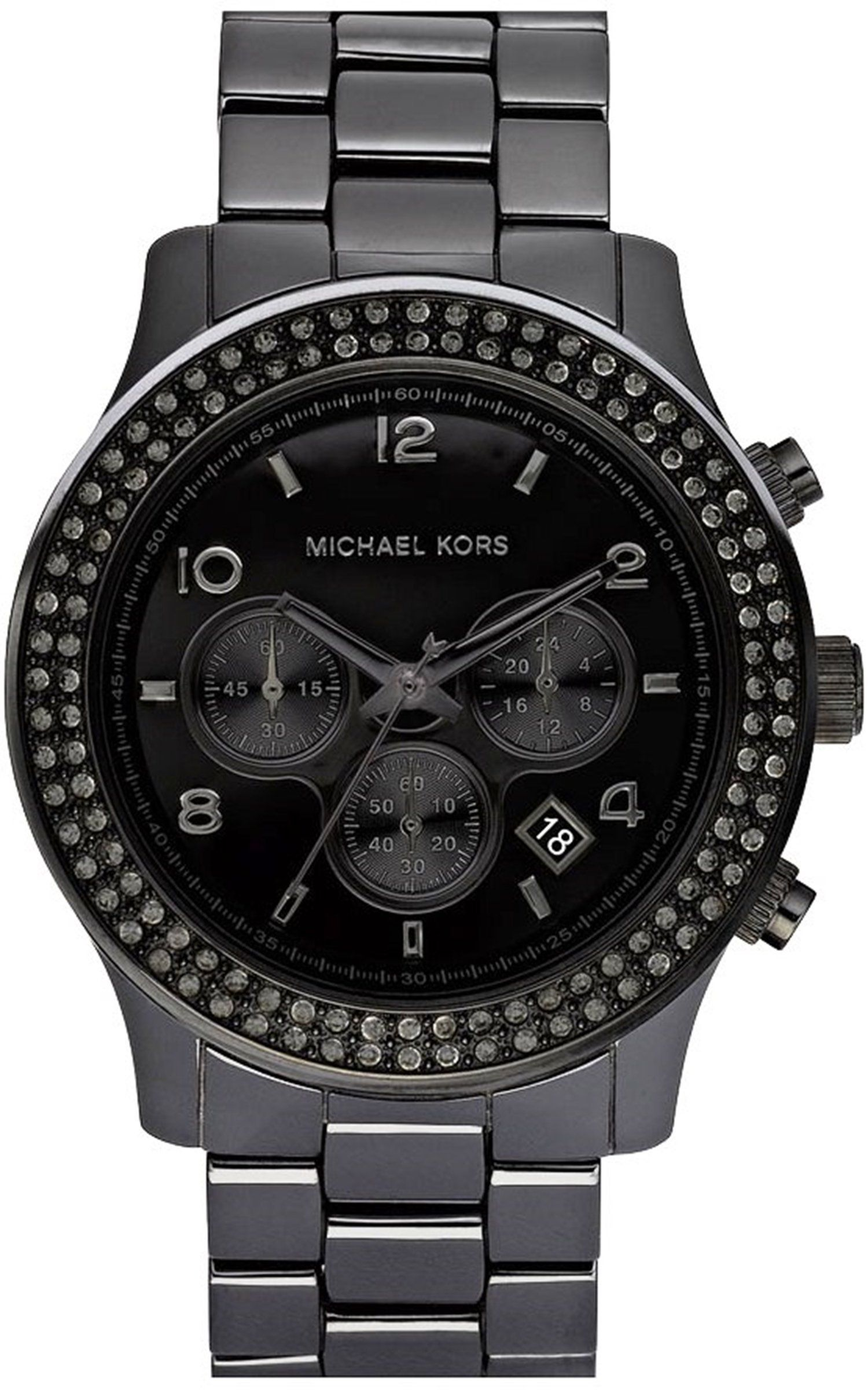 michael kors mk5360 montre femme quartz chronographe chronom tre bracelet c ramique. Black Bedroom Furniture Sets. Home Design Ideas