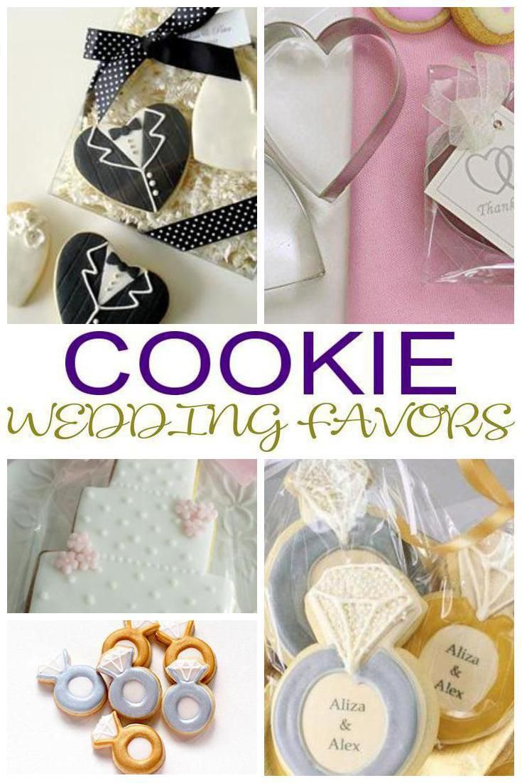 Cookie Wedding Favors | Cookie wedding favors, Favors and Weddings