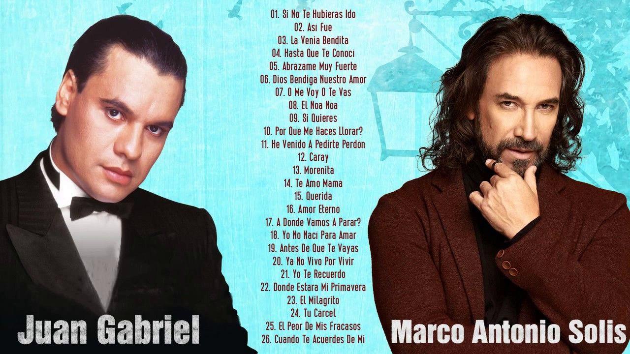 Juan Gabriel Y Marco Antonio Solis Viejitas éxitos Romanticos Mix 2020 S Juan Gabriel Y Baladas Romanticas Mejores Canciones