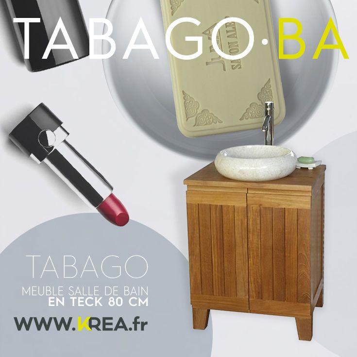 Meuble Salle De Bain En Teck 60 Cm Tabago Ba Salledebain