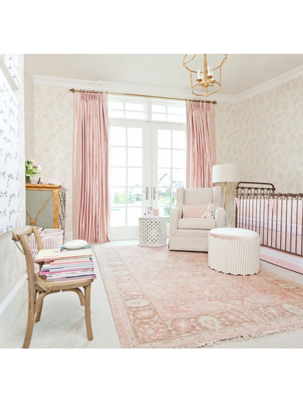 Sweet Eve Rug Carnation Baby Nursery Pink Color Palette Pink