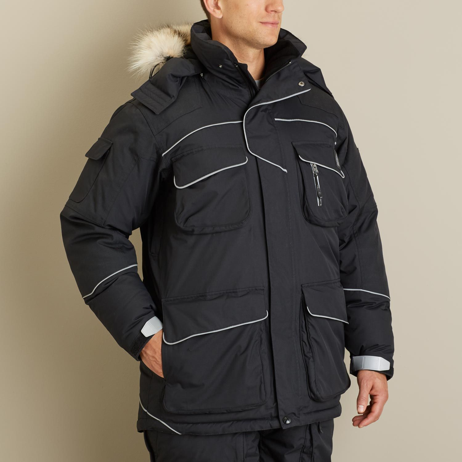 RefrigiWear Men/'s Waterproof ErgoForce Insulated Jacket with Reflective Piping