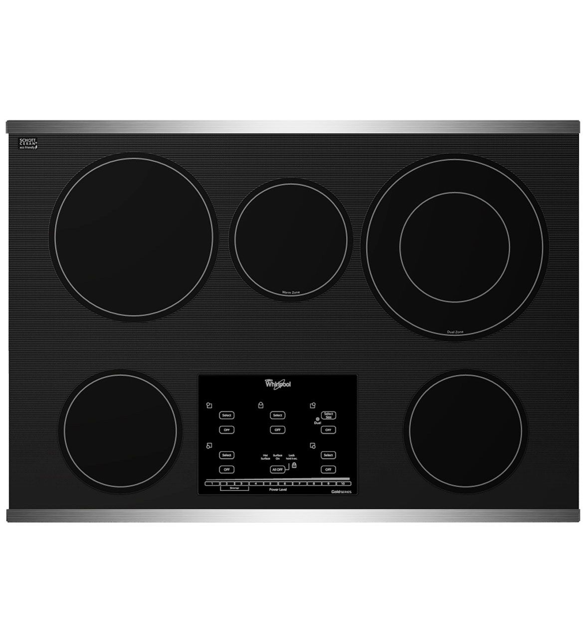 Gold series 30inch electric ceramic glass cooktop with