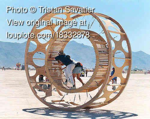 Burning Man Human Hamster Wheel Burning Man Cat House Diy Photo