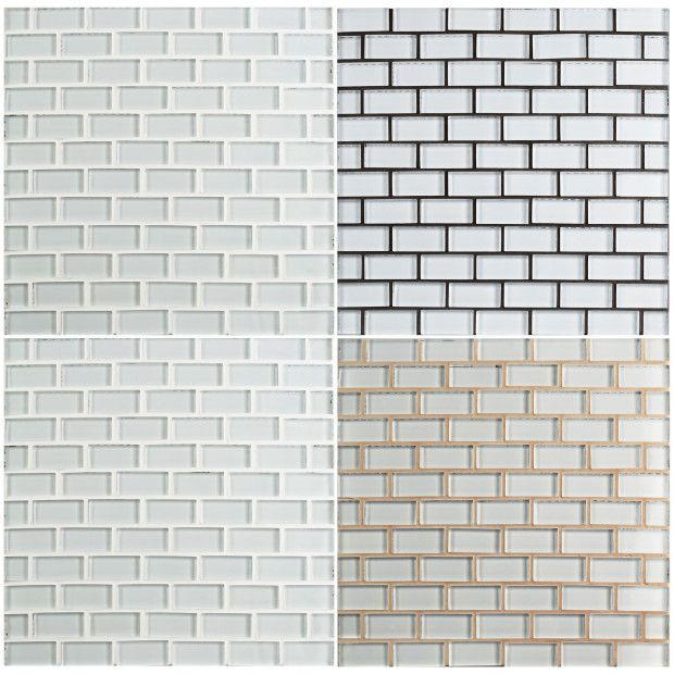 Be All About Grout White Glass Tile Grey Glass Tiles Grout Color