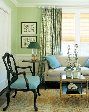 Our Favorite Garden Inspired Projects And Ideas Blue And Green Living Room Living Room Green Living Room Color