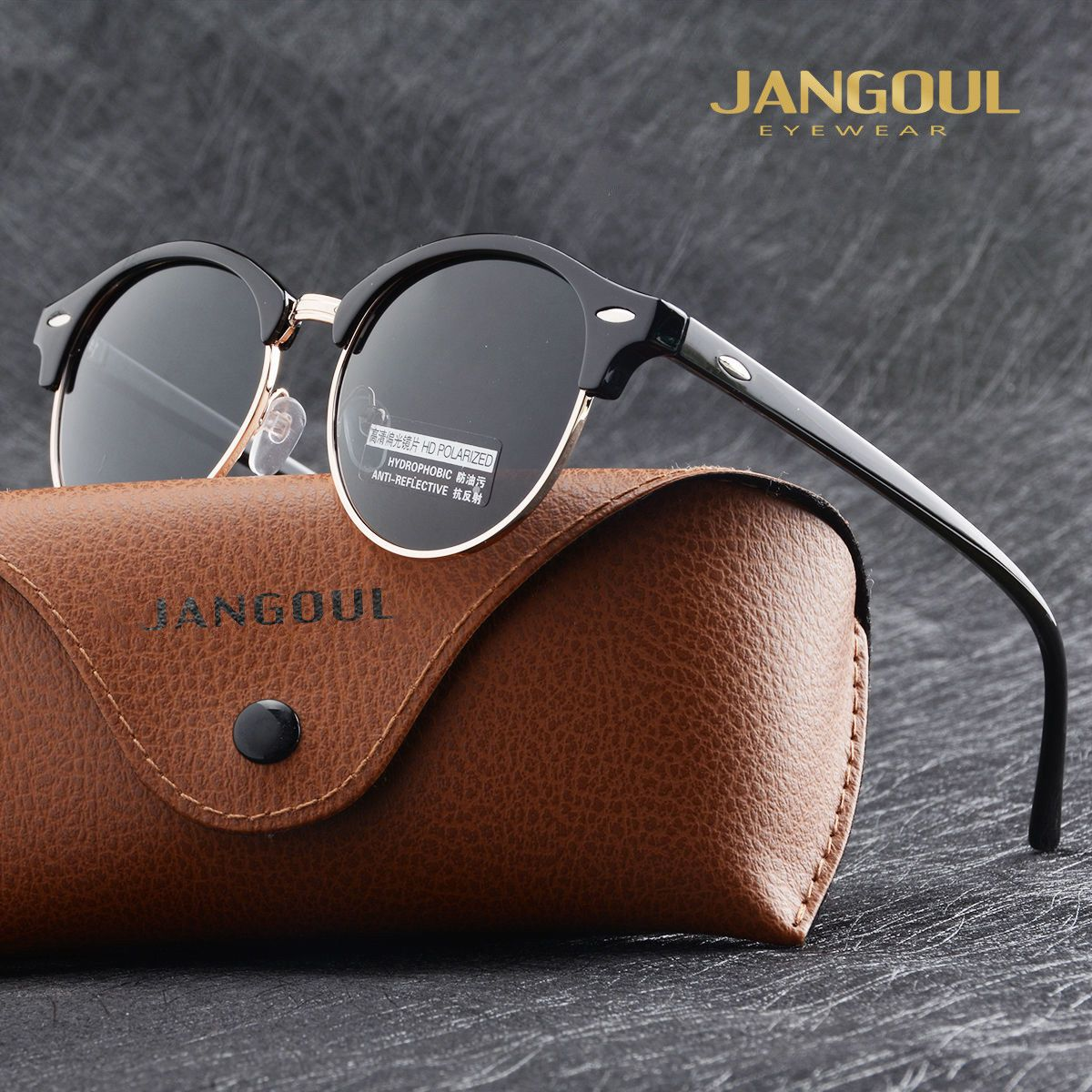731d5a25dab Fashion Vintage UV400 Outdoor Shades Women Mens Retro Round Polarized  Sunglasses