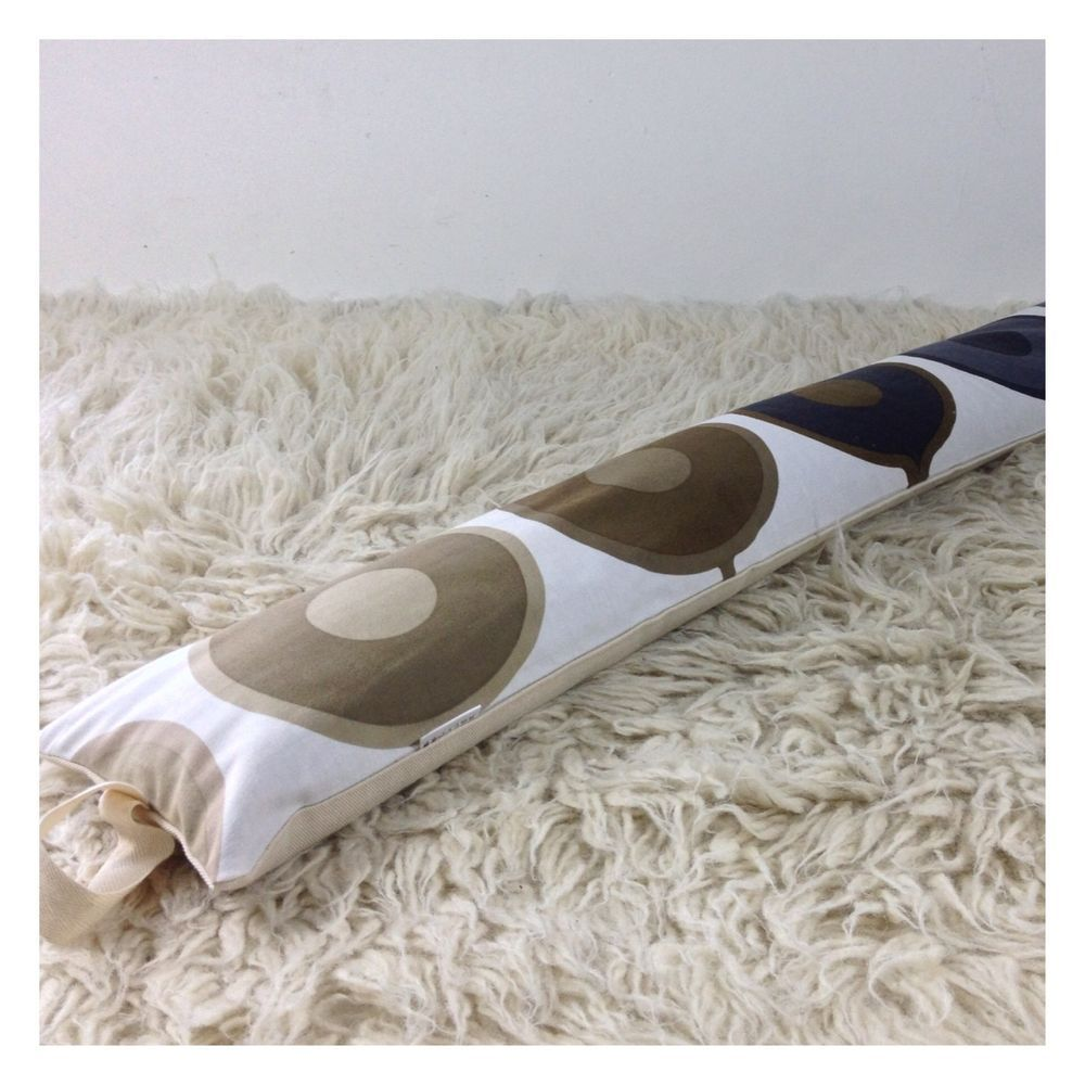 "Draught Excluder Vintage 1970s  ""Equilibrium"" Fabric, Gabriella Fountain"