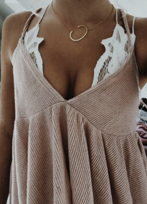 399841521b free people adella lace bralette + initial necklace + free people corduroy  tank