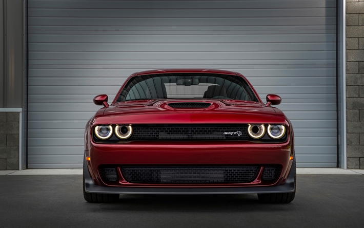 download wallpapers dodge challenger srt hellcat front view 2018 rh pinterest fr
