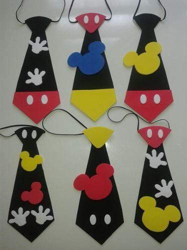 corbatas de mickey en foami cotillones #mousecrafts