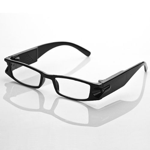 "1x Super Bright Night Lighting Hand Free LED Reading Glasses +2.00 With Storage Case Set Pusher Switch Control On Off Unisex For Map Books News Reading by Astra Depot. $11.99. Specifications: • Condition: Brand new • Package includes: One piece of +2.00 LED Black frame reading glasses attached a glasses case • Size: Temple length: 5 7/8"" (15cm); Frame width: 5 11/16""(14cm) • Weight: 150g • Material: PC plastic frames & Refractive Lenses   Features:  • Work wit..."