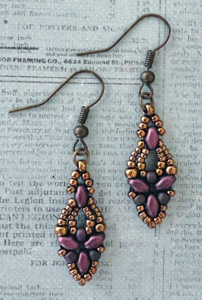free beading pattern elinor earrings diy pinterest beaded rh pinterest com