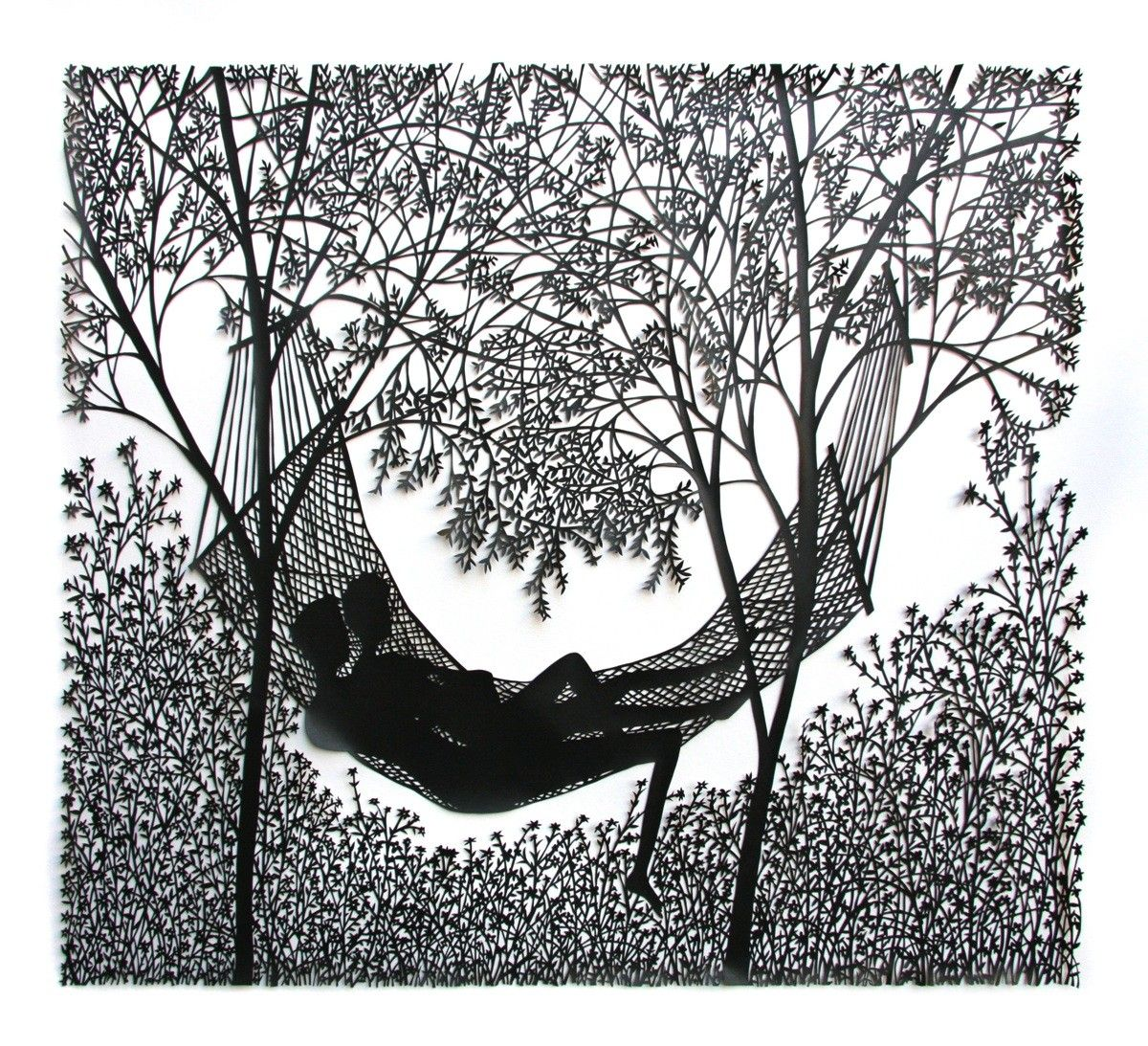 "Rob Ryan ""Hammock"" papercut"