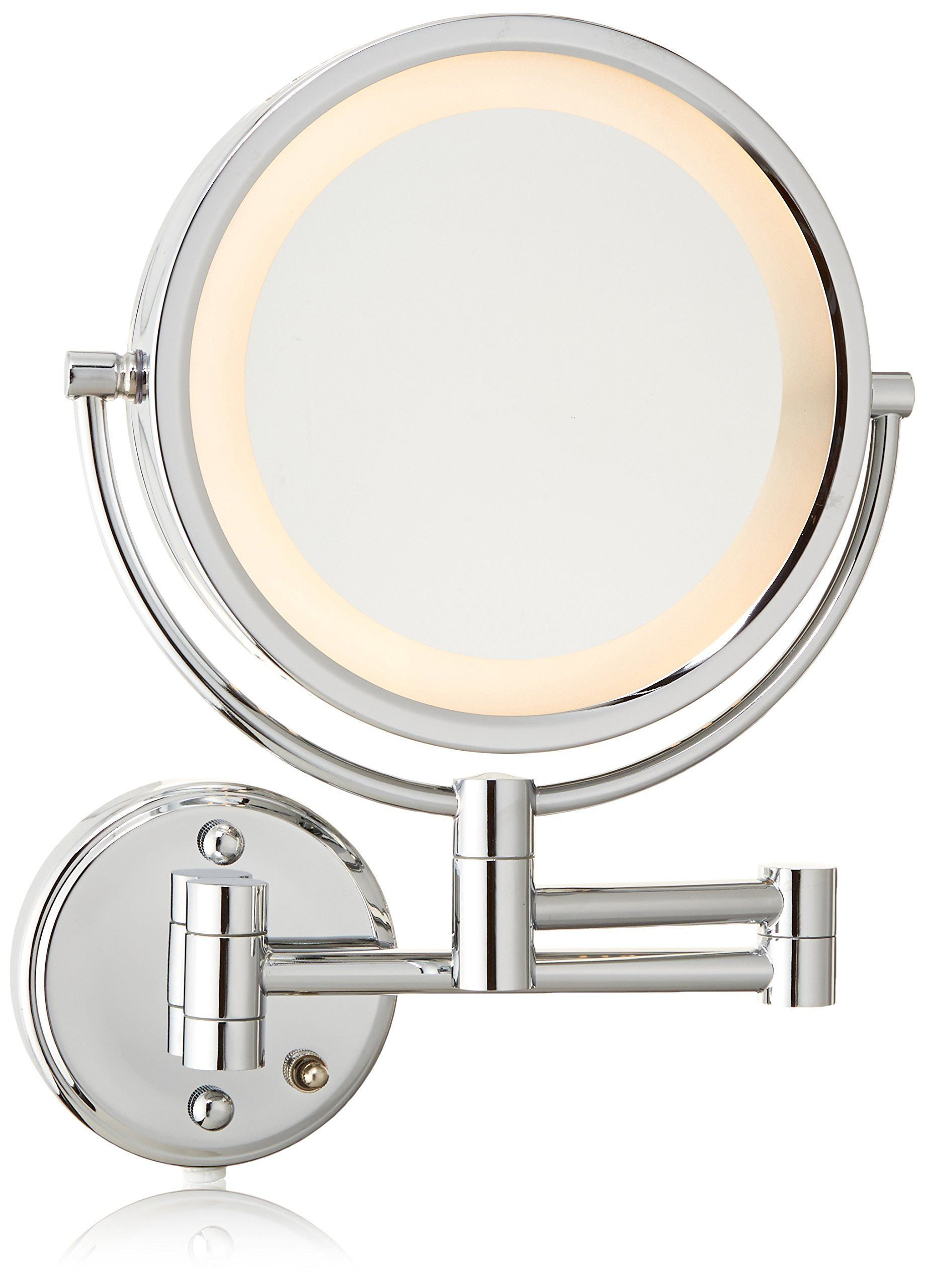 Jerdon Hl75c 8 5inch Lighted Wall Mount Makeup Mirror With 8x