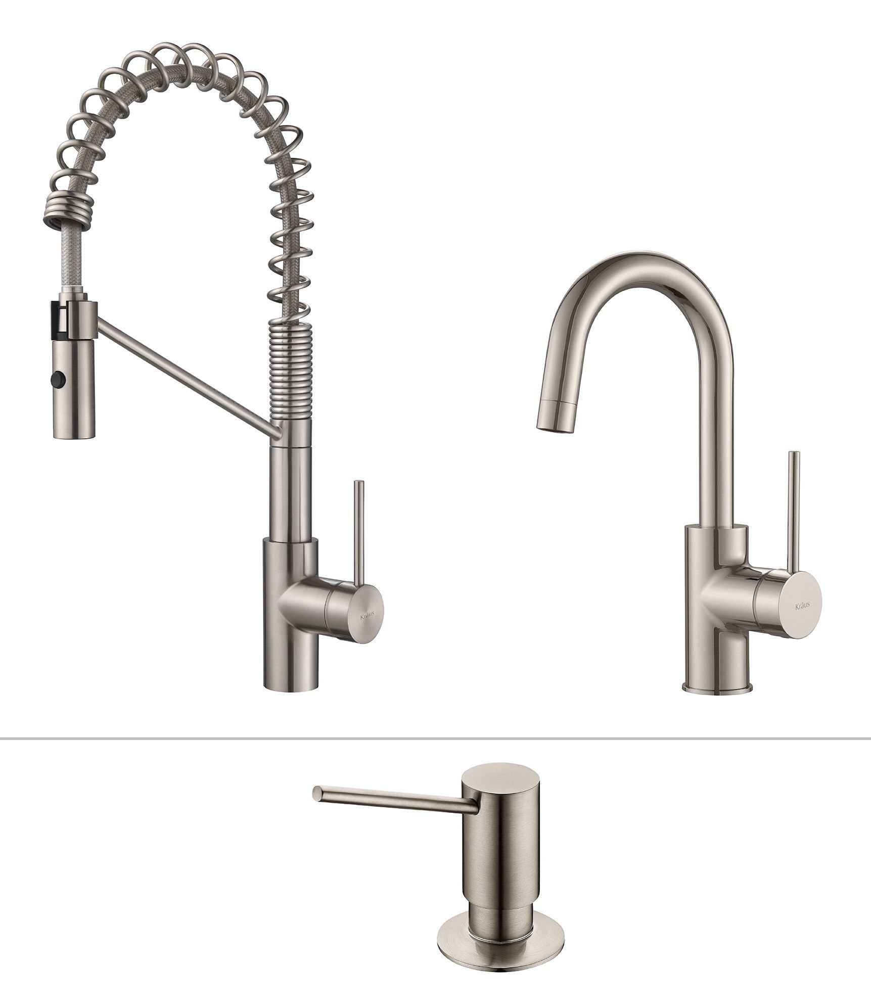 mateo commercial style kitchen faucet w bar prep faucet with soap rh pinterest ca
