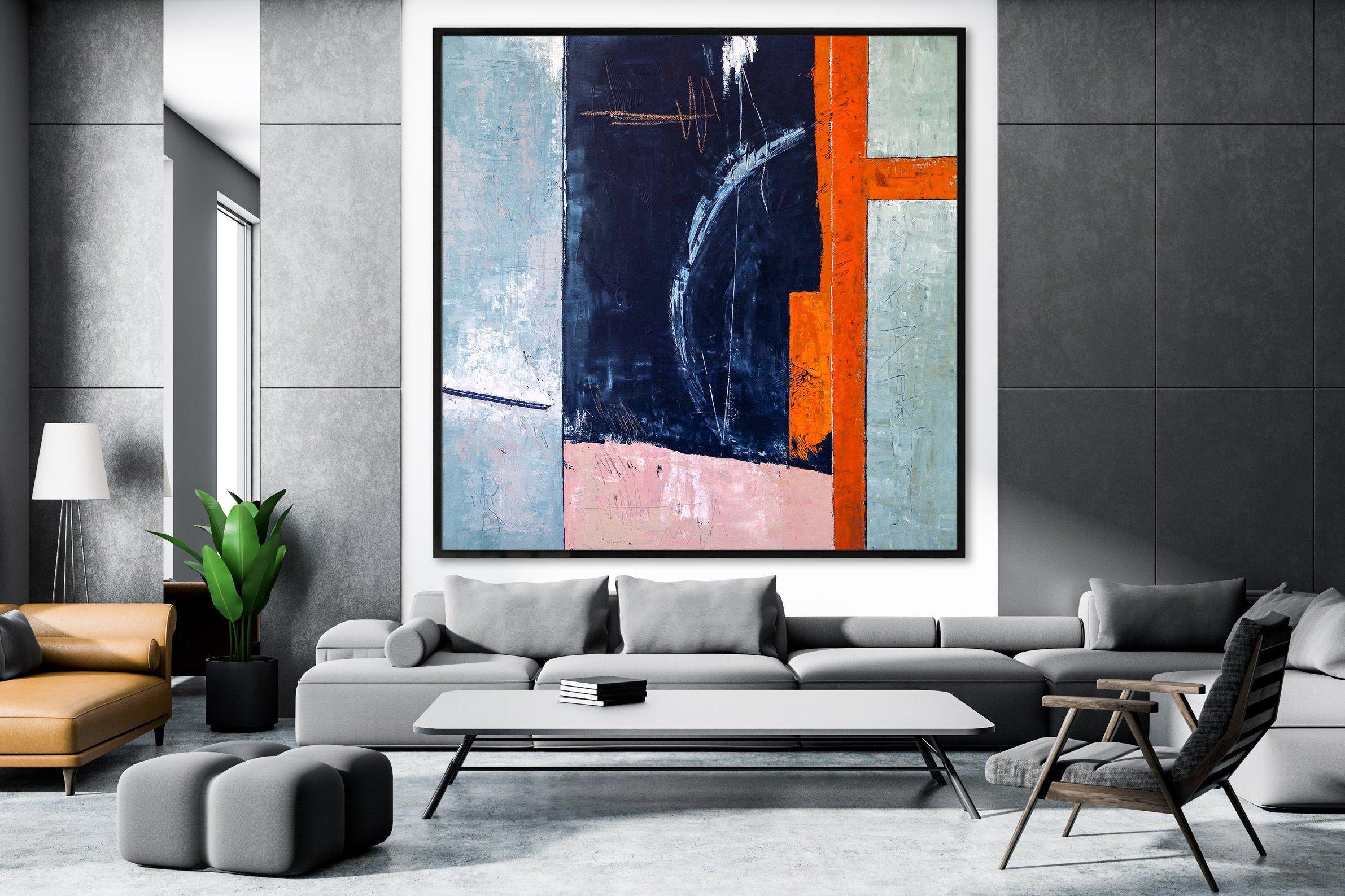 Abstract painting original large acrylic canvas wall art