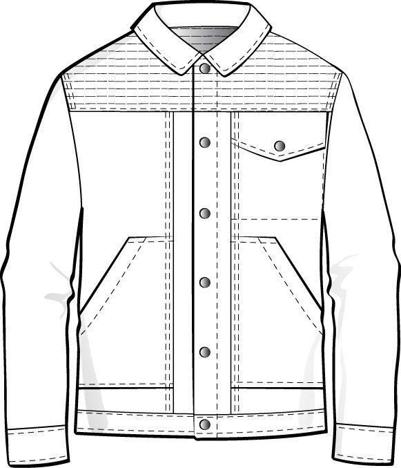 Mens Flat Fashion Sketch | fashion Sketch | Pinterest | Technische ...