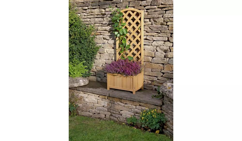 Buy Lattice Wooden Straight Planter Garden Pots And Planters Argos In 2020 Garden Planters Garden Pots Planters