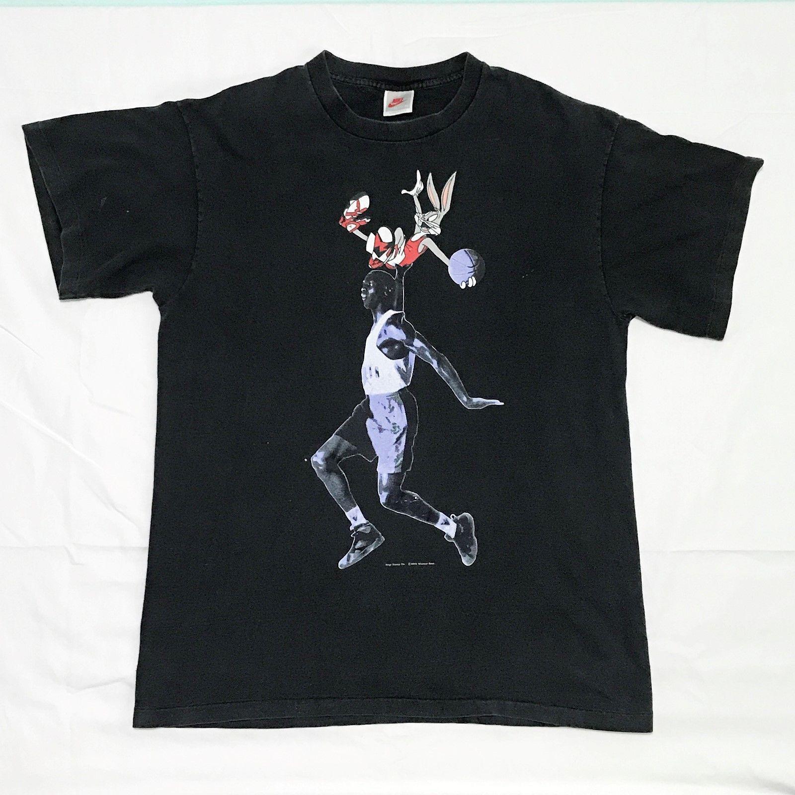 Vintage Nike Air Jordan Hare Jordan 7 T Shirt Size Xl Gray Tag Bugs Bunny Mens Tshirts Mens Tops Mens Outfits