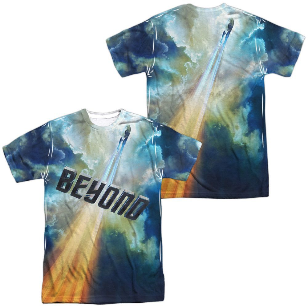 Star Trek Beyond Movie Up And Away Allover Sublimation Licensed Adult T Shirt