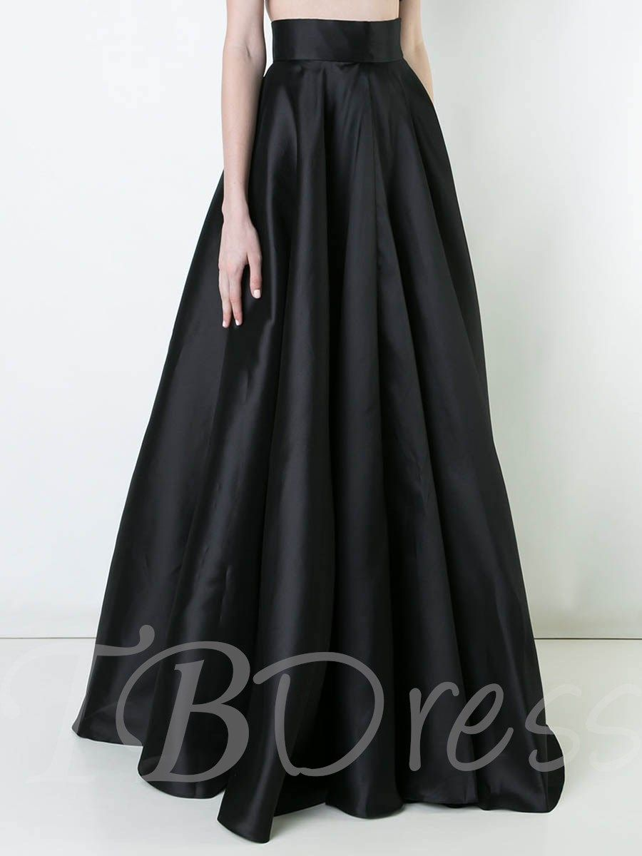 f28fc865a1 m.tbdress.com offers high quality High Waist Plain Pleated Long Maxi Skirt  under the category Skirts unit price of $ 32.92.