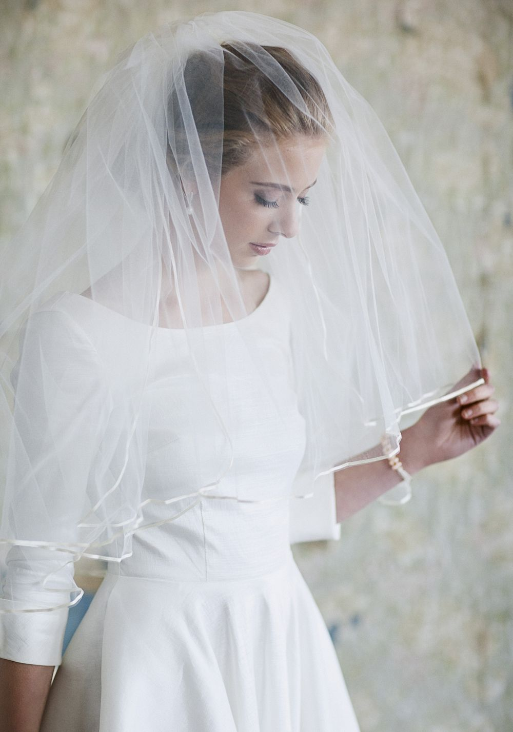 Ruche classic romance ivory veil at shopruche simple and