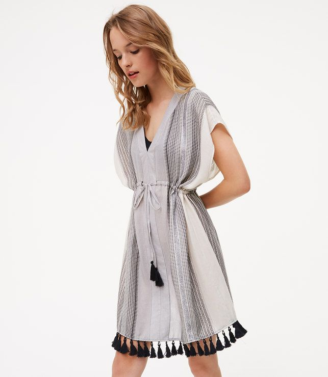 04bf343147 Primary Image of LOFT Beach Shimmer Stripe Caftan Dress | What to ...