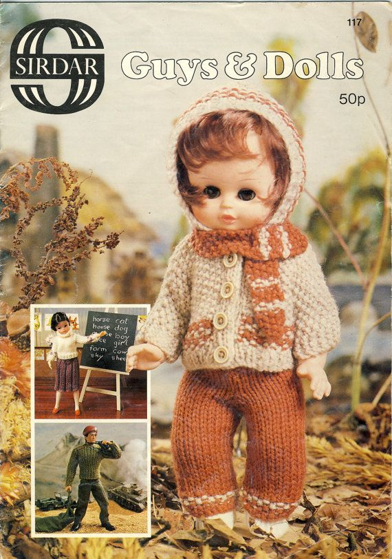 Sirdar 117 Guys Dolls Knitting Pattern Booklet Available To Buy