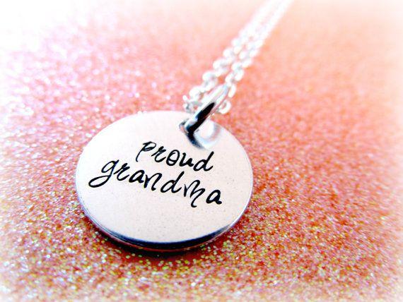 Grandma Necklace - Proud Grandma Nana Nanny Grams - Nana Jewelry
