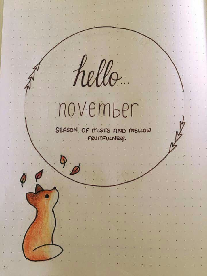 Groupon Calendario.November Title Page By Hannah Barham From The Bujo Group On