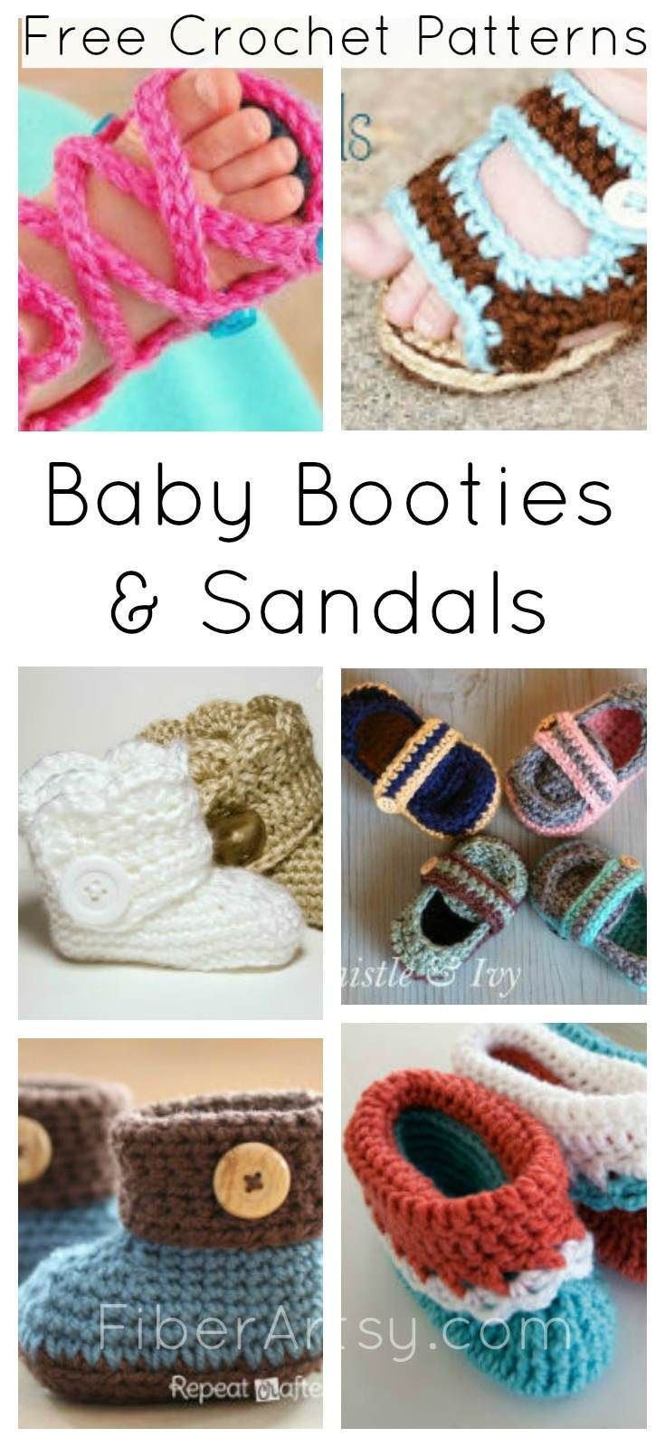14 Free Crochet Patterns for Baby Booties | Crafts | Pinterest ...