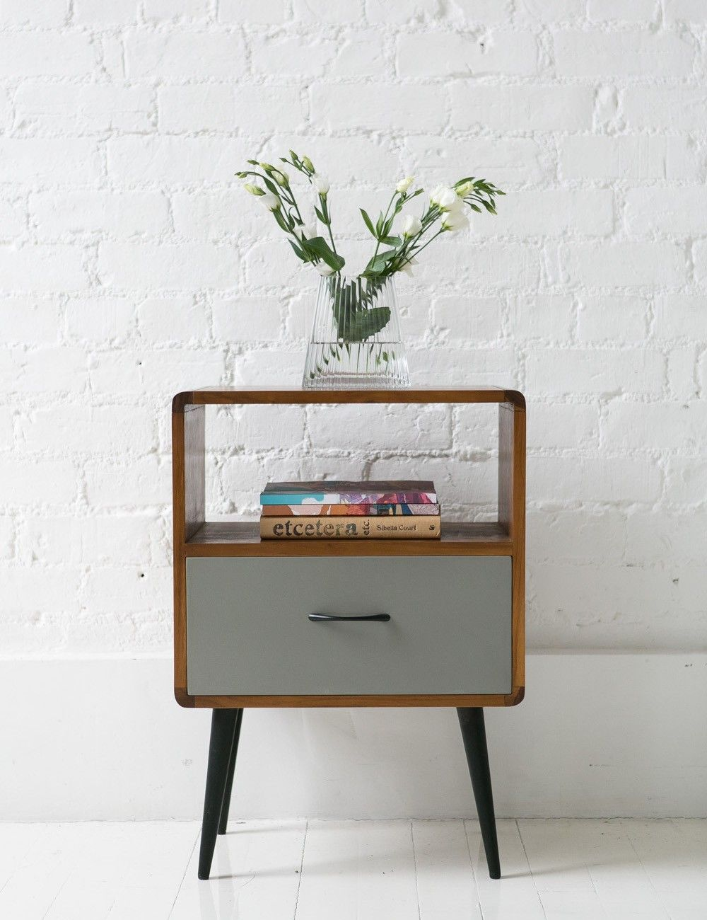 mid century bedside cabinet with a reassuringly nostalgic feel with rh co pinterest com