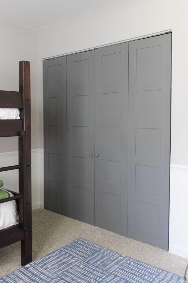 How To Make Craftsman Style 5 Panel Closet Doors Using Flush Hollow Core  Bi Fold