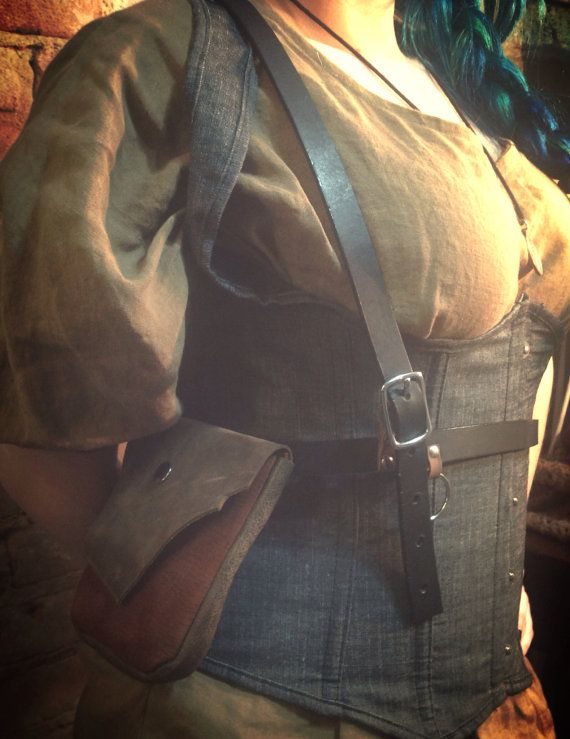 Hunter's Pouch LEATHER Side HOLSTER by RoyalPeasantryDesign