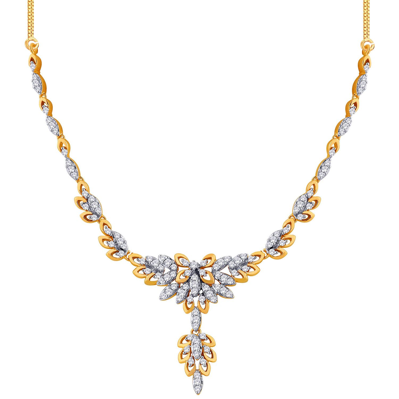Gold Diamond Necklace 2.47 Ct Natural Certified Diamond Wedding ...