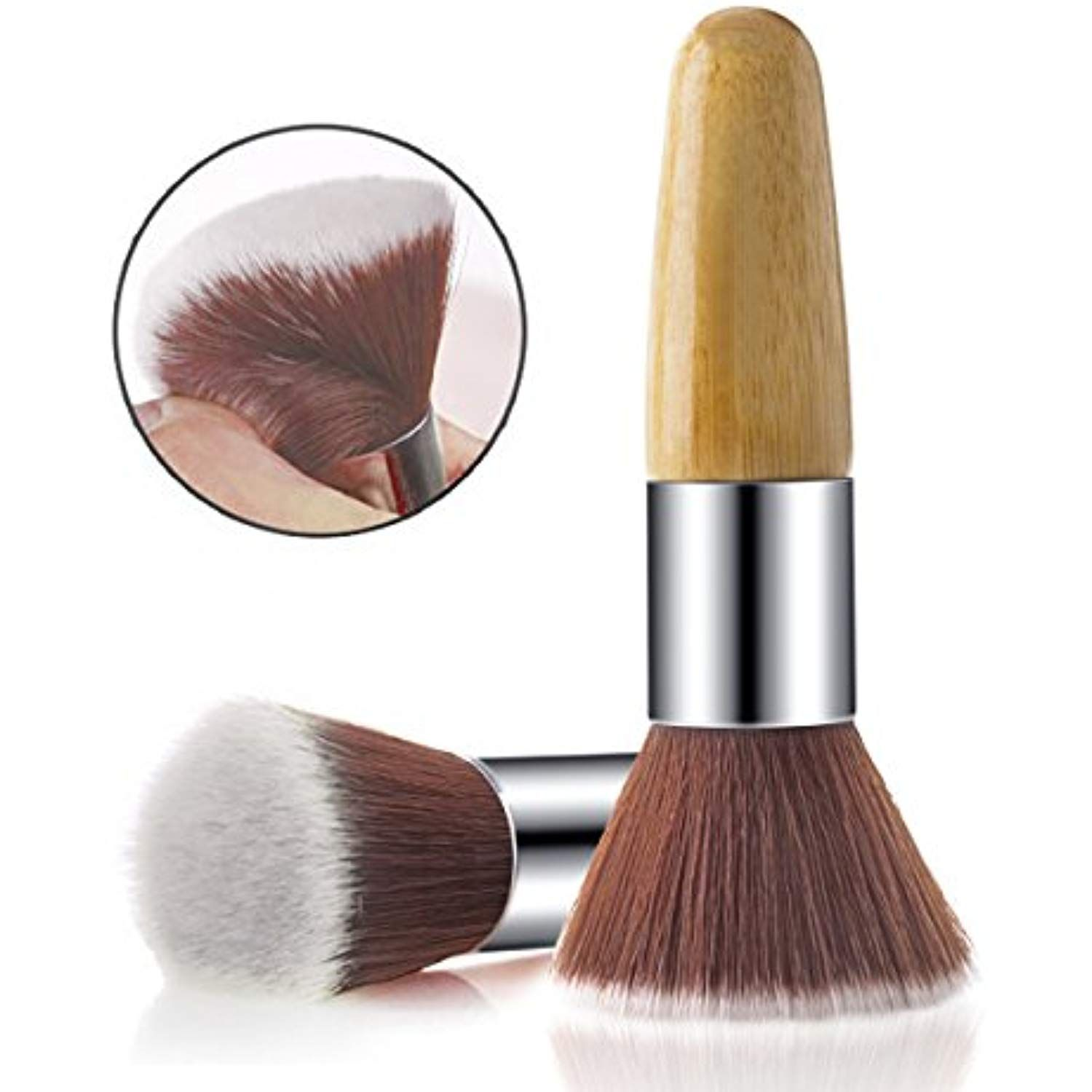 Rosette Multipurpose Bamboo Flat Kabuki Makeup Brush for