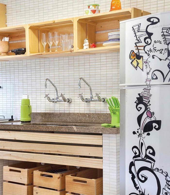 Cozinha simples e barata cozinha em 2019 Decoraç u00e3o cozinha barata, Decoraç u00e3o cozinha pequena  -> Decoração Cozinha Pequena Barata