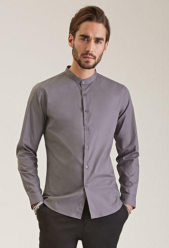 664eea22e812 Mandarin Collar Shirt