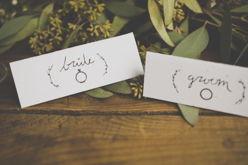 Bride and Groom table setting cards from Zachary Shilton Graphic Design!  I love the hand made font!  #Organic #Vintage #Rustic #Wedding //Whitney Heard Photography//
