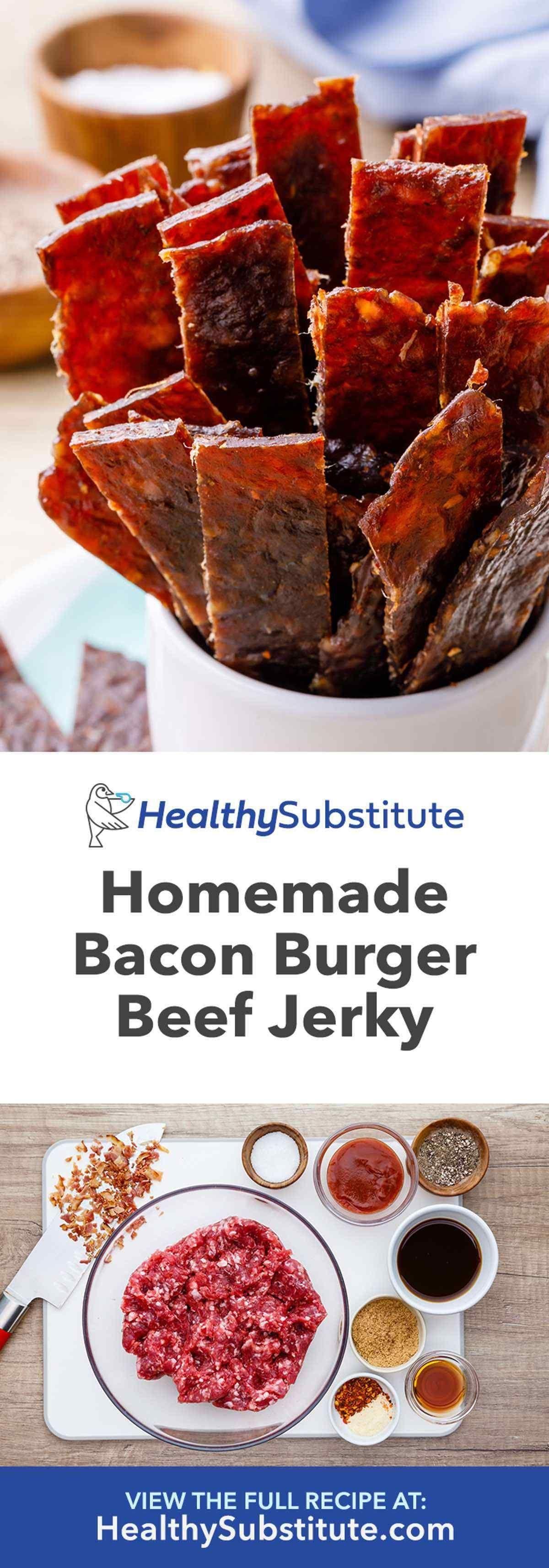 Bacon Burger Jerky Homemade Ground Beef Jerky Recipe