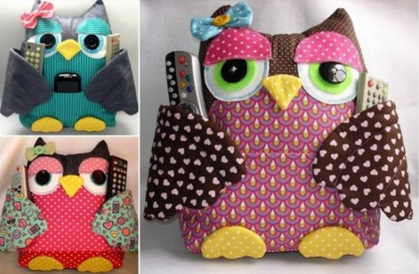 Owl remote control holder sewing pattern video tutorial remote this owl remote control holder sewing pattern has been super popular and it will come in jeuxipadfo Image collections
