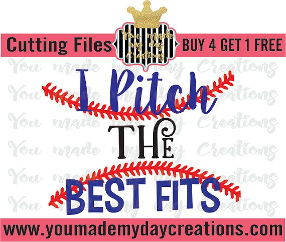 Buy 4 Get 1 Free I Pitch The Best Fits By Youmademydaycreation Easter Svg Christmas Svg Vinyl Crafts