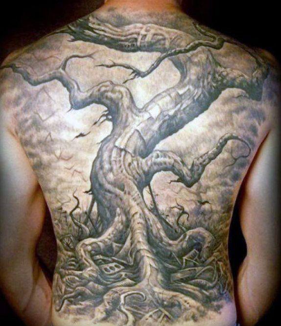ac1e87ec55ddf 50 Oak Tree Tattoo Designs For Men - Leaves And Acorns | tattoo ...