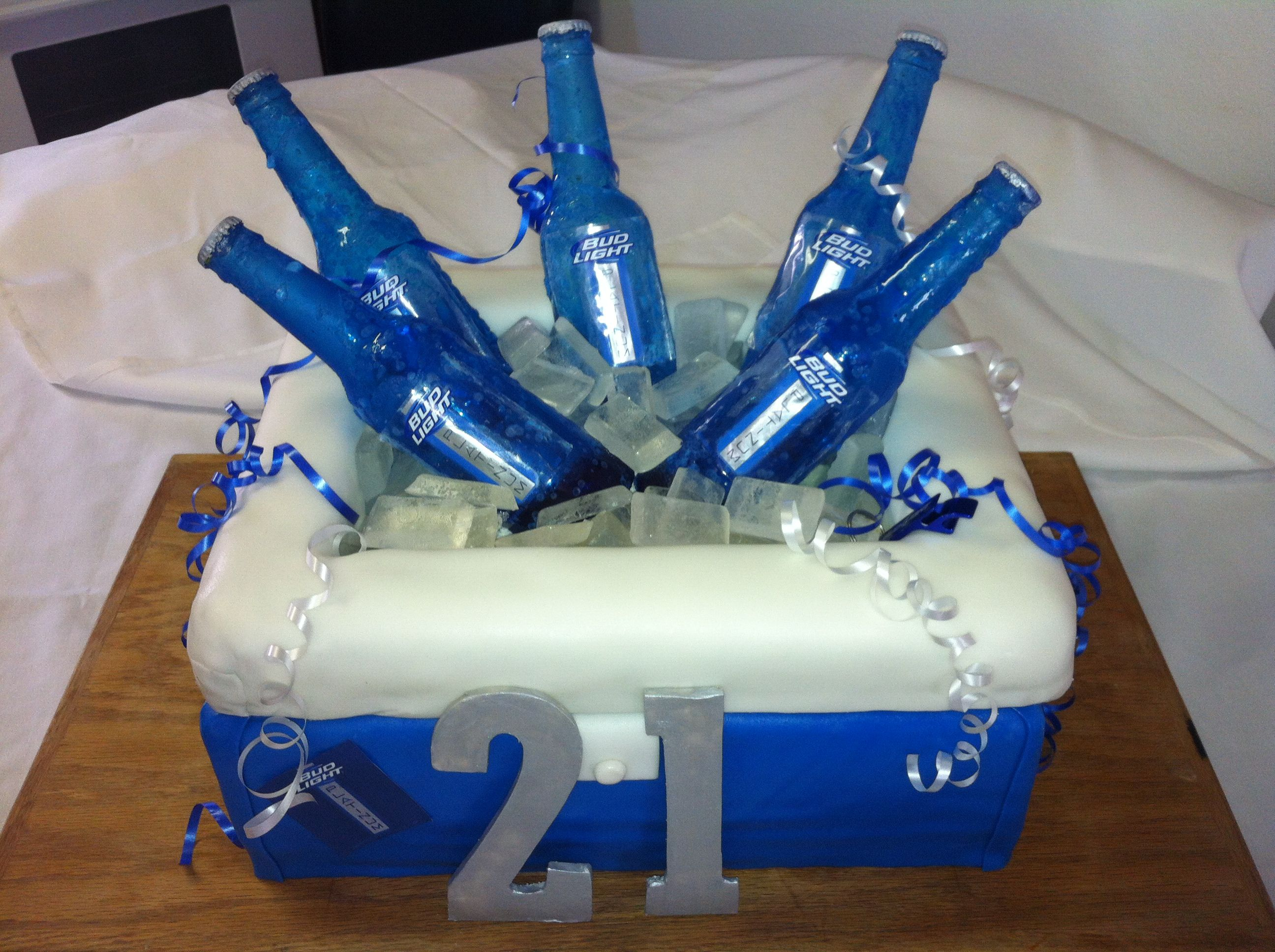 21st Birthday Cake Bud Light Platinum For My Pj My Cakes