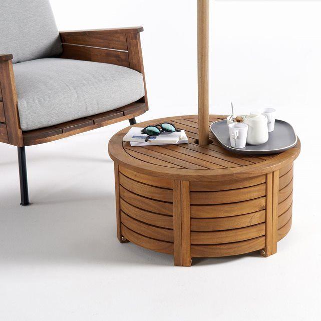Cache-pied rond parasol, acacia huilé FSC®*, Julma | Design table