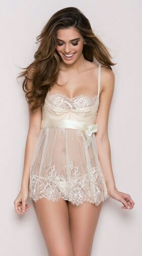 70586bd3 Evening Romance Lace and Mesh Babydoll Set, Mesh and Lace Babydoll